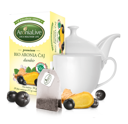 100% Biological Aronia Tea with Bio Ginger